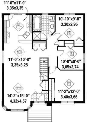 Main for House Plan #6146-00372
