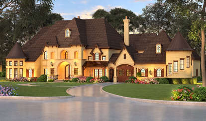 5 Bed, 5 Bath, 7473 Square Foot House Plan - #5445-00269