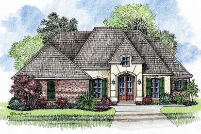 4 Bed, 2 Bath, 2057 Square Foot House Plan - #4534-00001