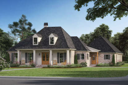 4 Bed, 3 Bath, 2386 Square Foot House Plan - #4534-00005
