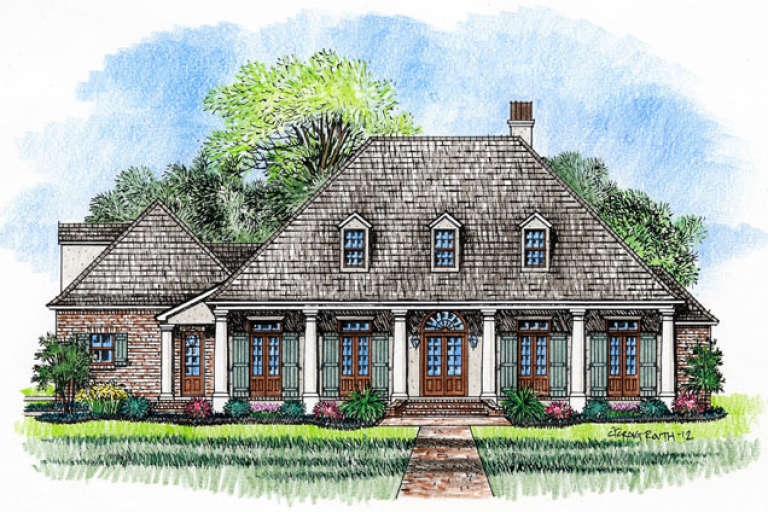 Southern House Plan #4534-00008 Elevation Photo