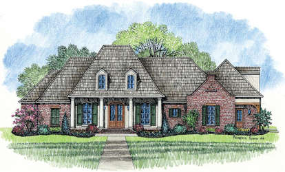 4 Bed, 3 Bath, 3172 Square Foot House Plan - #4534-00009