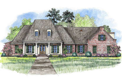 4 Bed, 3 Bath, 3176 Square Foot House Plan - #4534-00010
