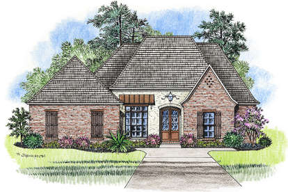 4 Bed, 3 Bath, 2595 Square Foot House Plan - #4534-00015