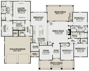 Main Floor for House Plan #041-00167