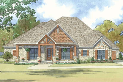 4 Bed, 3 Bath, 2410 Square Foot House Plan - #8318-00040