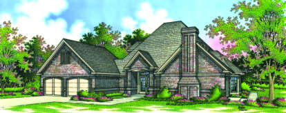 4 Bed, 3 Bath, 2047 Square Foot House Plan - #048-00122