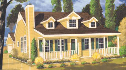 2 Bed, 2 Bath, 1410 Square Foot House Plan - #033-00021