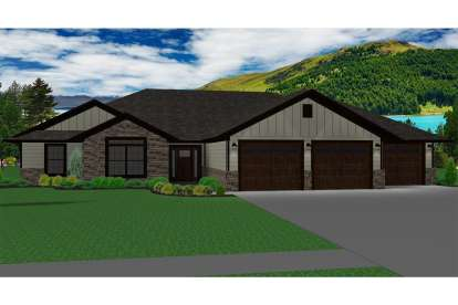 3 Bed, 2 Bath, 1677 Square Foot House Plan - #5678-00004