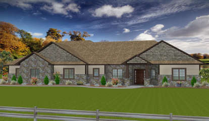 3 Bed, 2 Bath, 2225 Square Foot House Plan - #5678-00006