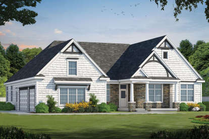 3 Bed, 2 Bath, 2877 Square Foot House Plan - #402-01468