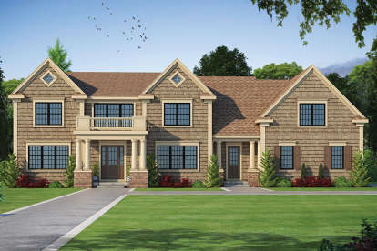 5 Bed, 5 Bath, 5722 Square Foot House Plan - #402-01470