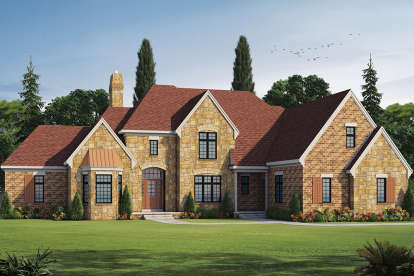 4 Bed, 5 Bath, 4748 Square Foot House Plan - #402-01472