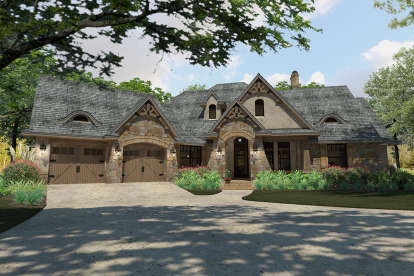 3 Bed, 2 Bath, 2397 Square Foot House Plan #9401-00090
