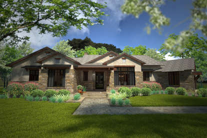 3 Bed, 2 Bath, 2352 Square Foot House Plan #9401-00091