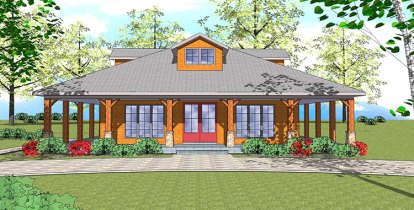 1 Bed, 1 Bath, 1225 Square Foot House Plan - #6471-00097
