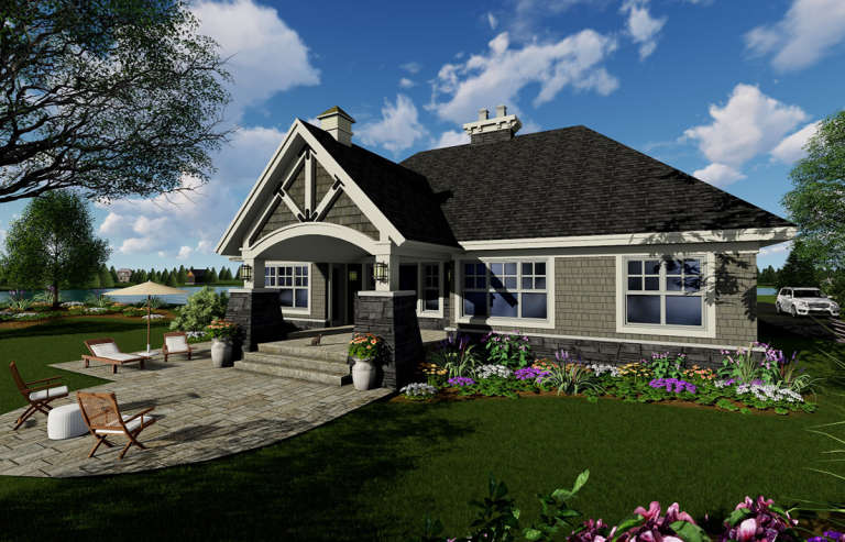 Bungalow  House Plan #098-00293 Elevation Photo