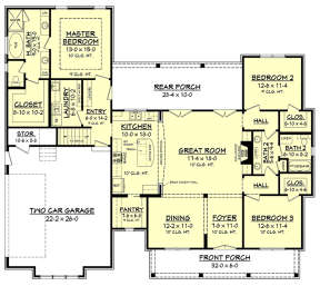 Main Floor for House Plan #041-00168