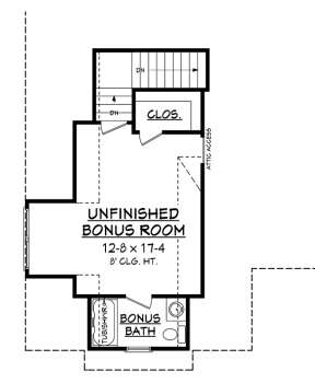 Bonus Room for House Plan #041-00168