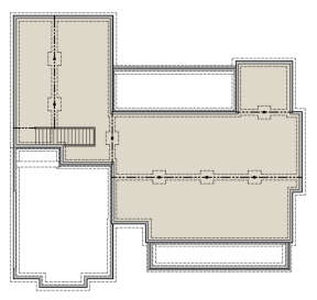 Basement for House Plan #041-00168