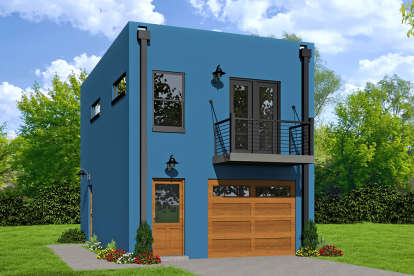 1 Bed, 1 Bath, 572 Square Foot House Plan - #940-00042