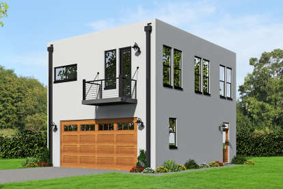 2 Bed, 1 Bath, 820 Square Foot House Plan - #940-00043