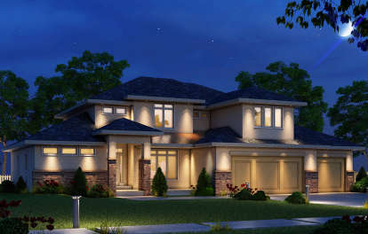 4 Bed, 3 Bath, 2503 Square Foot House Plan #402-01476
