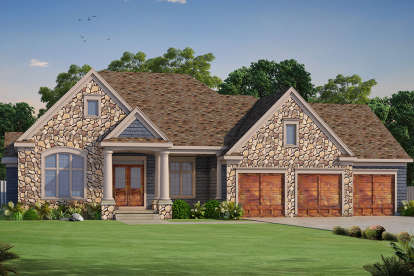 3 Bed, 3 Bath, 2796 Square Foot House Plan - #402-01479