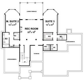 Basement for House Plan #402-01479