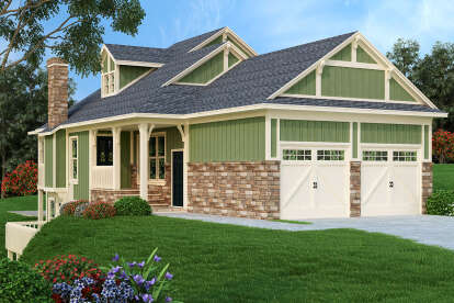 2 Bed, 2 Bath, 1062 Square Foot House Plan #048-00255