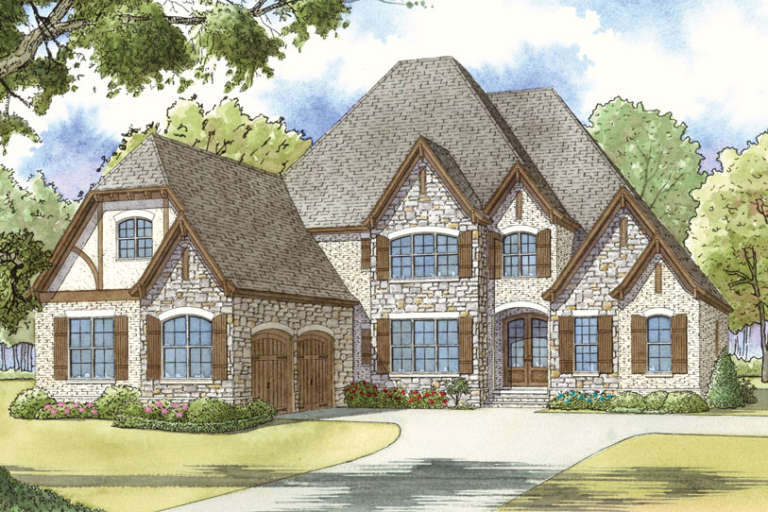 French Country House Plan #8318-00046 Elevation Photo