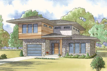 3 Bed, 3 Bath, 1806 Square Foot House Plan - #8318-00052