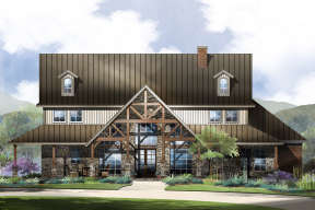 Mountain Rustic  House Plan #5445-00275 Elevation Photo