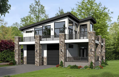 1 Bed, 1 Bath, 1319 Square Foot House Plan - #940-00065