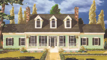 5 Bed, 2 Bath, 2099 Square Foot House Plan #033-00022