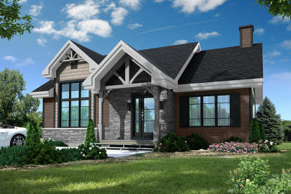2 Bed, 1 Bath, 1102 Square Foot House Plan #034-01133