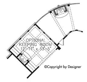 Optional Keeping Room for House Plan #699-00083