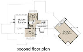 Second Floor for House Plan #9401-00092