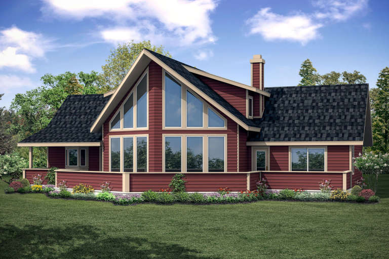 Vacation House Plan #035-00798 Elevation Photo