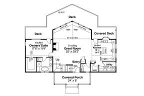 Floorplan 1 for House Plan #035-00798