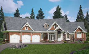 Craftsman House Plan #699-00088 Elevation Photo