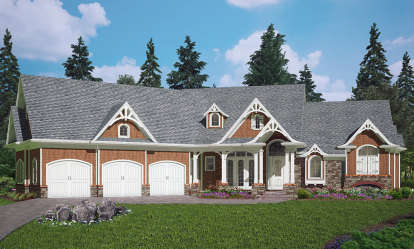 3 Bed, 2 Bath, 2621 Square Foot House Plan - #699-00088
