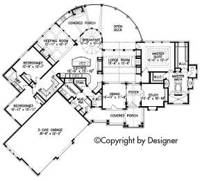 Floorplan 1 for House Plan #699-00088