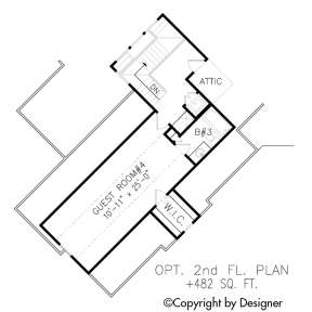 Floorplan 2 for House Plan #699-00088