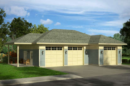 0 Bed, 0 Bath, 1448 Square Foot House Plan #035-00819