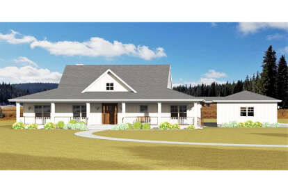 3 Bed, 2 Bath, 2059 Square Foot House Plan #3125-00016