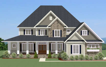 5 Bed, 4 Bath, 3942 Square Foot House Plan - #6849-00039