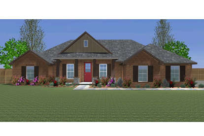 4 Bed, 2 Bath, 2034 Square Foot House Plan - #677-00003