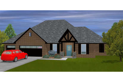 4 Bed, 2 Bath, 2013 Square Foot House Plan - #677-00004
