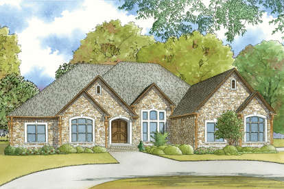 3 Bed, 3 Bath, 3765 Square Foot House Plan - #8318-00061